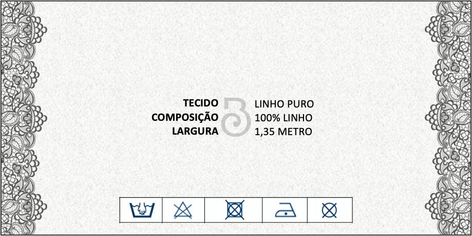 LINHO PURO PESADO AZUL TURQUESA