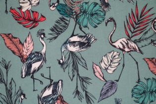 VISCOSE ESTAMPADA FLAMINGOS